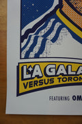 LA Galaxy vs. Toronto FC - 2014 Ames Brothers poster Los Angeles