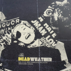 The Dead Weather - 2009 Methane Studios poster Vancouver, BC