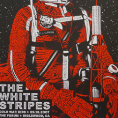 The White Stripes - 2007 Rob Jones poster Los Angeles, CA