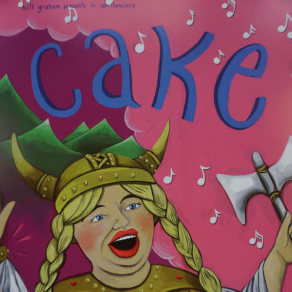 Cake - 2001 Barbara Pollack poster San Francisco, CA Warfield Theatre