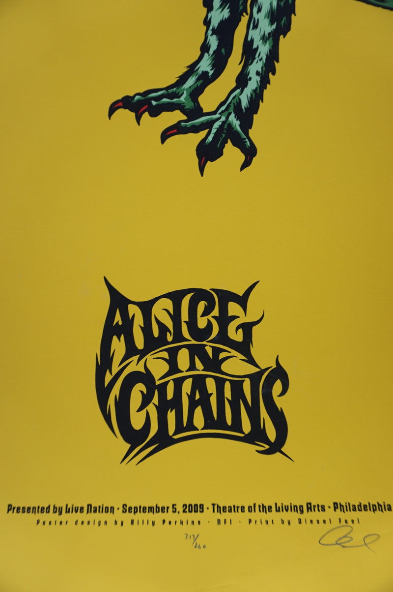 Alice In Chains - 2009 Billy Perkins poster Philadelphia, PA Living Arts