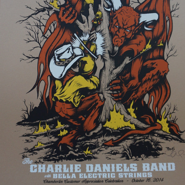 Charlie Daniels Band - 2014 Billy Perkins poster Chamberlin