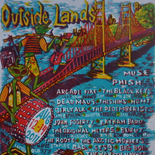 Outside Lands - 2011 Jim Pollock poster San Francisco Phish Muse