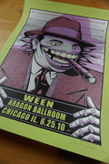 Ween - 2010 Justin Hampton poster Chicago, IL Aragon VARIANT