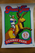 Pearl Jam - 2016 Ames Brothers poster Boston Fenway show ed