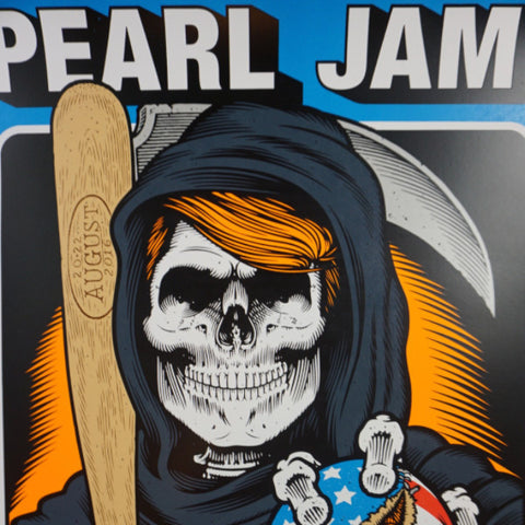 Pearl Jam - 2016 Sean Cliver poster Chicago, IL Wrigley Field