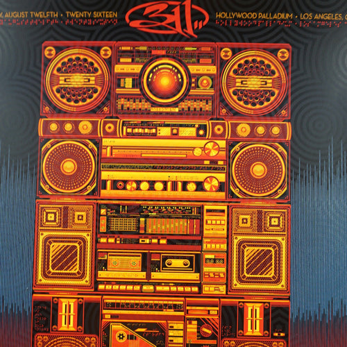 311 - 2016 Todd Slater poster Los Angeles Hollywood, California