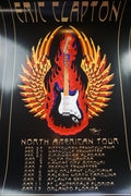 Eric Clapton - 2010 Stanley Mouse poster print US TOUR Pittsburgh, no Crossroads