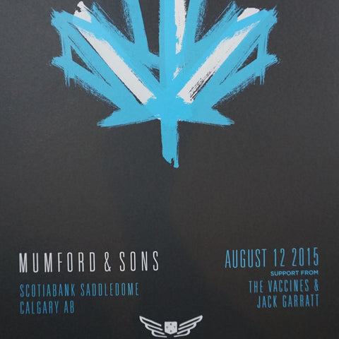 Mumford and & Sons - 2015 poster Calgary Alberta Scotiabank Arena