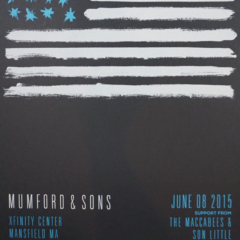 Mumford and & Sons - 2015 poster Mansfield, MA Xfinity Center