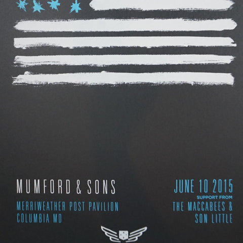 Mumford and & Sons - 2015 poster Columbia, MD Merriweather Post