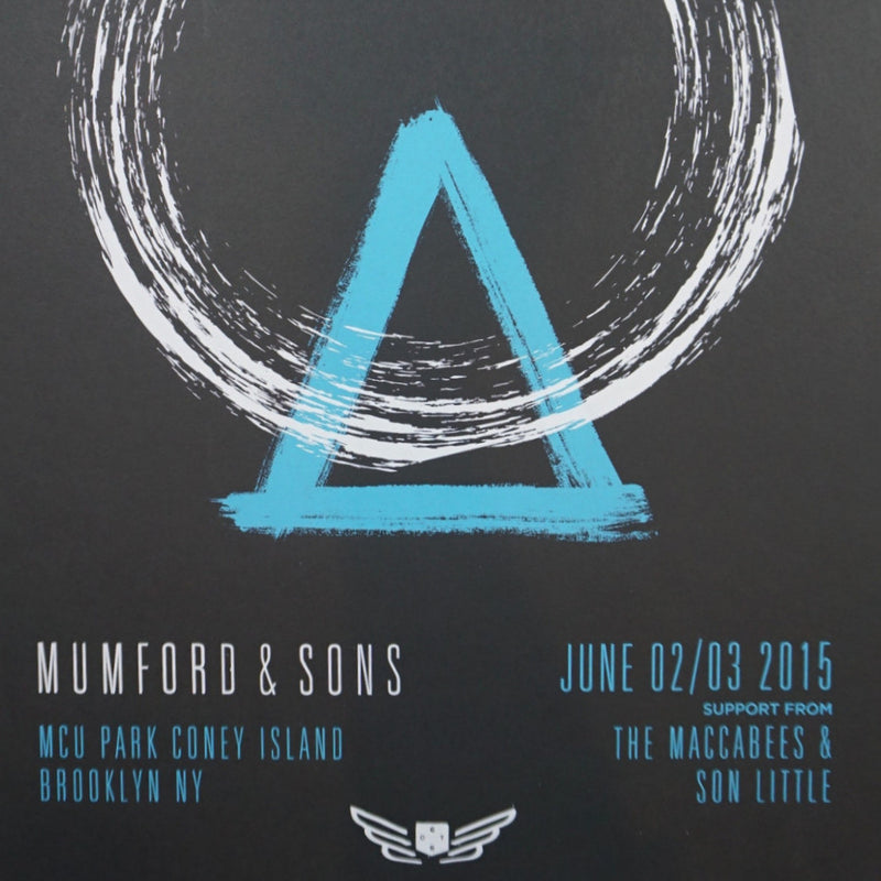 Mumford and & Sons - 2015 poster Brooklyn, NY Coney Island