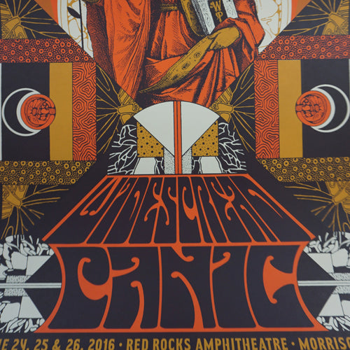 Widespread Panic - 2016 Status Serigraph poster Red Rocks Colorado