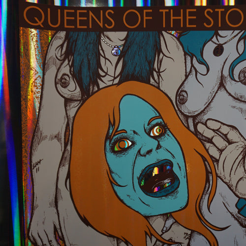 Queens of the Stone Age - 2013 Jermaine Rogers poster S/N Nashville FOIL