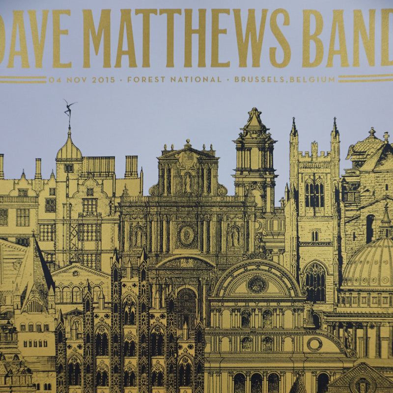 Dave Matthews Band - 2015 Nate Duval Poster Brussels DMB