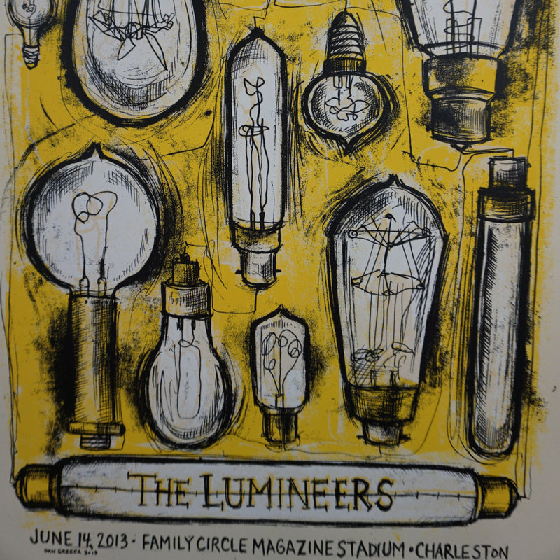 Lumineers - 2013 Dan Grzeca poster Charleston Family Circle