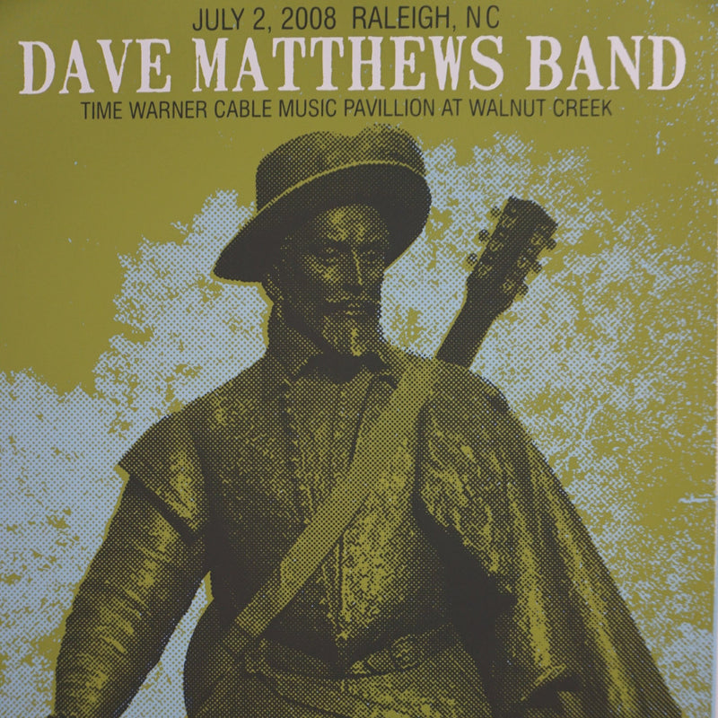 Dave Matthews Band - 2008 Methae poster Raleigh Walnut Creek 1st