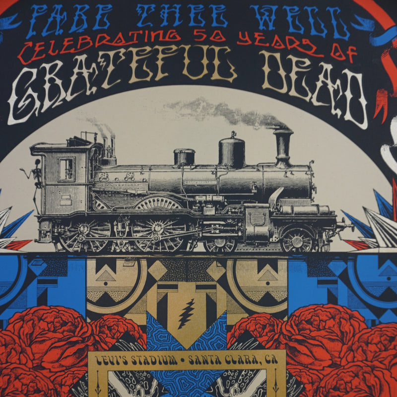 Grateful Dead - 2015 Status Serigraph poster Fare Thee Well Santa Clara