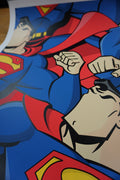Superjerk - 2015 Jerkface poster street art Superman