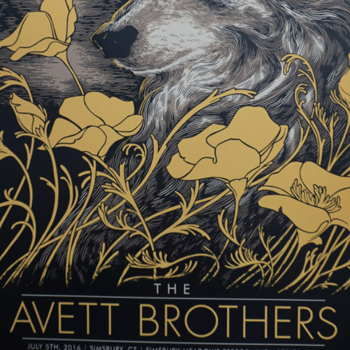 The Avett Brothers - 2016 John Vogl poster Simsbury, CT Meadows