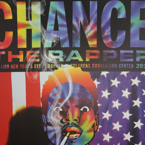 Chance The Rapper - 2015 Kii Arens poster Los Angeles, CA