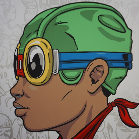 Fly Boy - 2016 Hebru Brantley poster Beyond Kirby Flyboy
