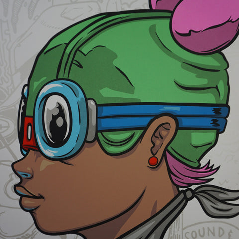 Lil Momma - 2016 Hebru Brantley poster Beyond Kirby