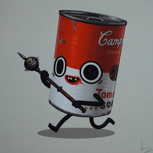 Two Handed Mace - 2016 Mike Mitchell poster print tomato soup can