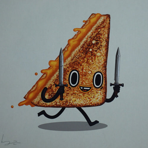 Short Sword - 2016 Mike Mitchell poster print grilled cheese