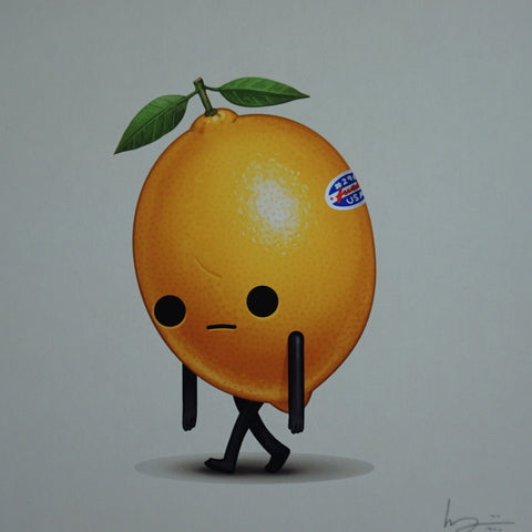 Current Mood #4 - 2016 Mike Mitchell poster print orange food dudes