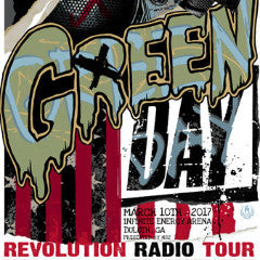 Green Day - 2017 Rhys Cooper poster Duluth, GA