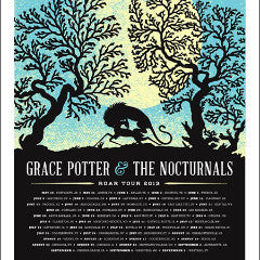 Grace Potter - 2013 Aesthetic Apparatus poster road tour BLUE