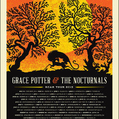 Grace Potter - 2013 Aesthetic Apparatus poster road tour ORANGE