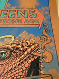 Queens of the Stone Age Justin Hampton poster print QOTSA Portland, COPPER ed