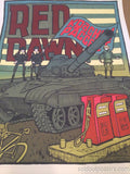 "Red Dawn - 2014 Jay Ryan movie cinema poster print MONDO hand SIGNED #""d"