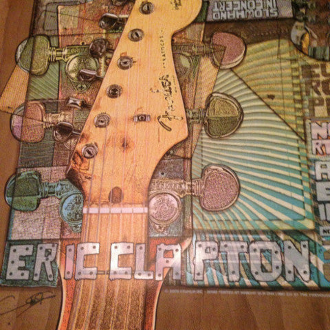 Eric Clapton - 2008 Ron Donovan Firehouse poster US/Europe Tour North America