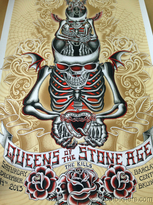 Queens of the Stone Age Emek QOTSA poster print The Kills S/N Barclays Center