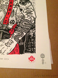 Pearl Jam - 2013 Ames Bros Brothers Poster Calgary, AB, CAN Saddledome