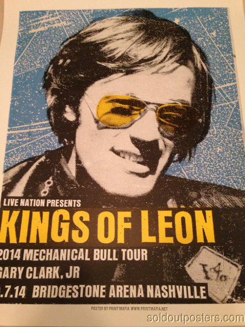 Kings of Leon - 2014 Print Mafia poster Gary Clark Jr Nashville, TN S/N