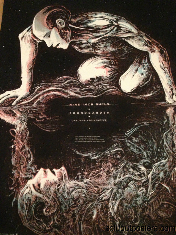 Nine Inch Nails Soundgarden Miles Tsang poster print 7/27/2014 Molson Toronto ON