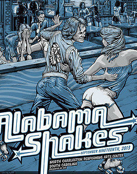 Alabama Shakes - 2013 Dig My Chili Poster North Charleston, SC Performing Arts C
