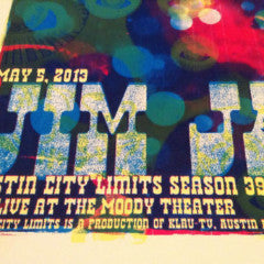 JIM JAMES - 2013 Jared Conner poster print Austin City Limits ACL Moody S/N