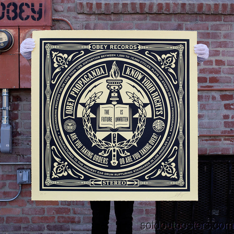 Know Your Rights Large Format Print - 2014 Shepard Fairey OBEY poster Signed #'d