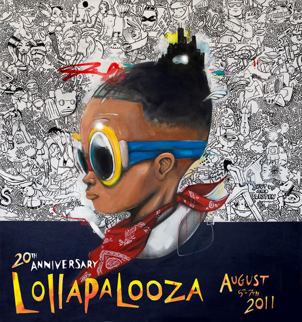 Lollapalooza - 2011 Hebru Brantley SIGNED and Numbered Edition Poster #2/500