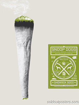SNOOP DOGG - 2013 Powerslide Design Snoop Lion poster print S/N in first 10!