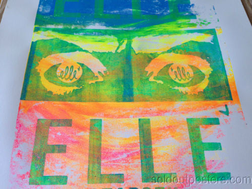 SEA PUNK 02 - 2013 Elle poster print S/N Edition of 30 Hand Pulled and finished