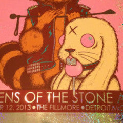 Queens of the Stone Age - 2013 Jermaine Rogers Poster Detroit FOIL Fillmore