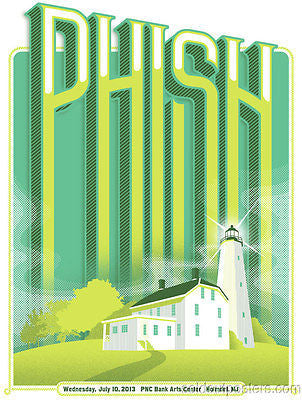 Phish - 2013 Mike Davis/Burlesque poster print from Holmdel, NJ show
