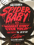 SPIDER BABY -  2013 SIGNED Gary Pullin poster print AP horror film Sci-fi MONDO