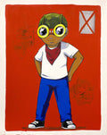 The Champ Is Here - 2015 Hebru Brantley poster/print Chicago Street Art Artist